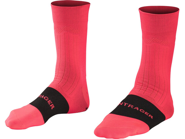 Bontrager Velocis Chaussettes Homme, radioactive pink